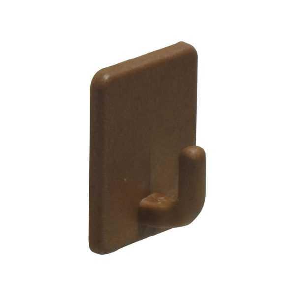 Крючок, пластик, самоклеющийся, коричневый 2 шт. в блистере (10/120)