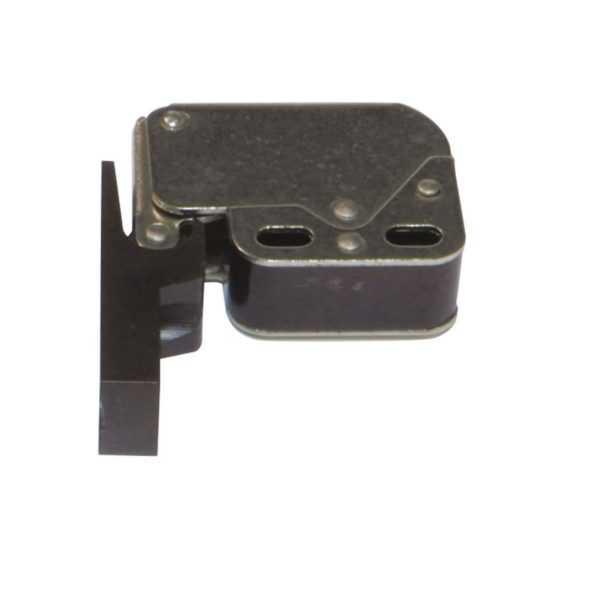 защелка мебельнаяпокрытие никель/пластик черный (20/200)