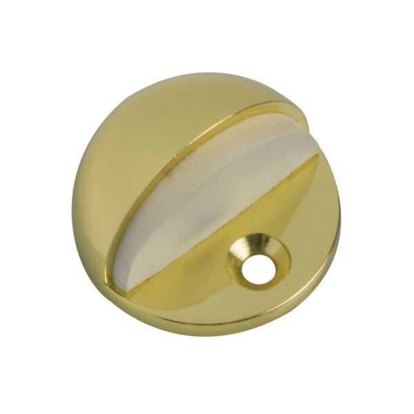 Стопор дверной никель матовый с белой резинкой (20/200)
