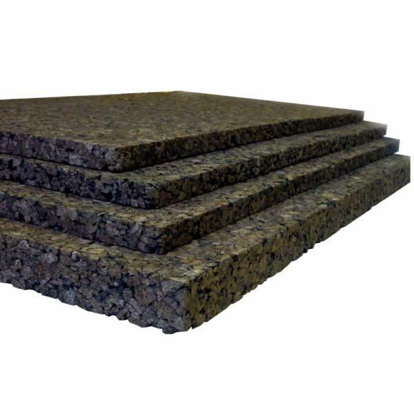 Агломерированная пробковая плита черная, 50 мм.